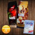 1 x Café Sati 100 % Arabica, 1 x Espresso Intenso, 1 x Nestlé Gloria Milch