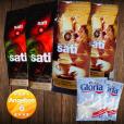 2 x Café Sati 100 % Arabica, 2 x Espresso Intenso, 2 x Nestlé Gloria Milch