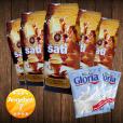 5 x Café Sati 100 % Arabica Bohnen, 2 x Nestlé Gloria Milch