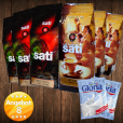 3 x Café Sati 100 % Arabica, 3 x Espresso Intenso, 2 x Nestlé Gloria Milch